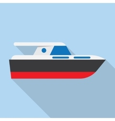 Yacht boat sign icon vector image