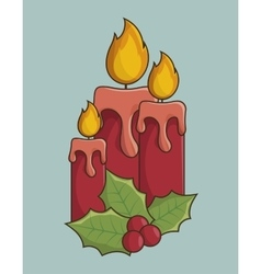 candles christmas icon vector image