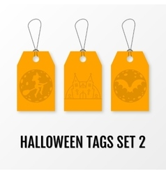 Halloween sale tags set isolated templates vector image