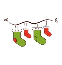 Merry christmas decoration hanging vector