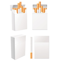Collection of blank cigarette pack eps 10 set vector