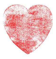 Red heart symbol watercolor texture vector