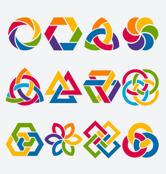 design elements abstract symbol set vector image