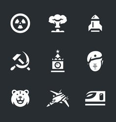 Set of russia army icons vector