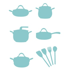 Cooking equipment silouette vector
