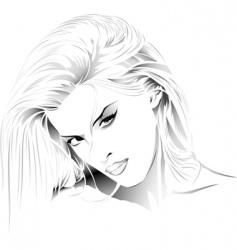 Girl portrait vector