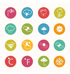 Icons weather circle series vector