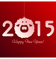 Symbol of new years lamb on red vector