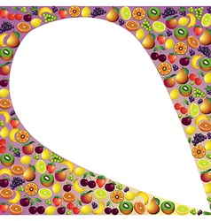 Fruits abstract composition different fruits icon vector