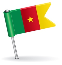 Cameroon pin icon flag vector
