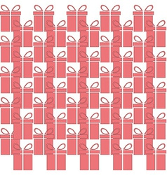 Gift box web icon flat design seamless pattern vector
