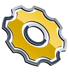 3d shiny sprocket vector