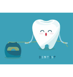Floss tooth vector
