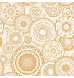Eastern morocco pattern in sand colors vector