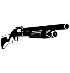black and white with a shotgun vector image
