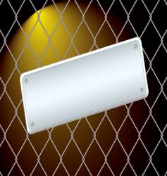 Wire fence night vector