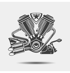 Car engine or motorbike motor black icon vector