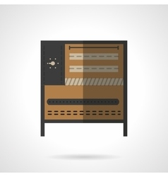 Food processing equipment flat icon oven vector