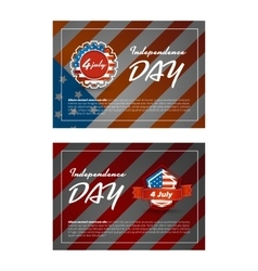 Independence day banner vector