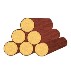 Wood trunk isolated icon design vector