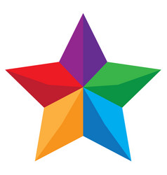 Abstract colorful star or symbol isolated on vector