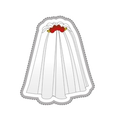 Bride dress icon image vector