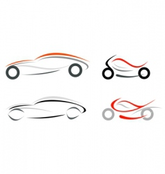 car and motorcycle vector image
