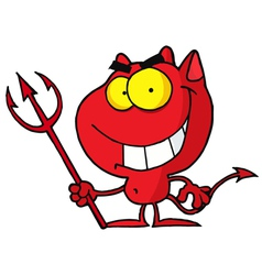 Cartoon Character Halloween Devil vector image vector image