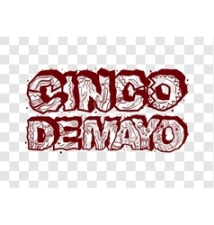 Cinco de mayo lettering text header for greeting vector
