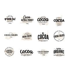 Cocoa logo set vector