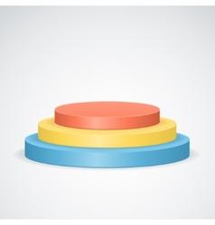 color podium vector image