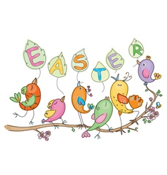 easter birds vector image