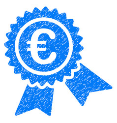 european guarantee seal grunge icon vector image vector image