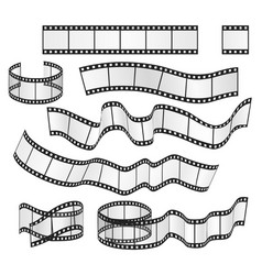 film strip set film frames collection vector image