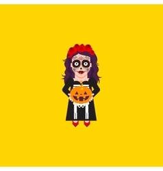 Goddess katrina character for halloween in a flat vector