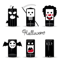 halloween icons pack vector image vector image