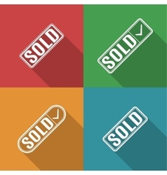 Icons sold vector