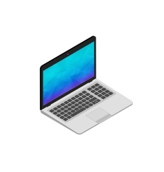 isometric of laptop on white vector image vector image