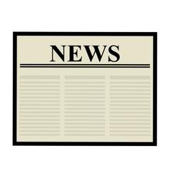 Newspaper icon communication design vector