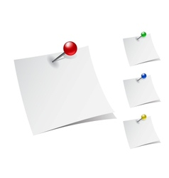 note papers with push pins vector image vector image