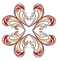 Ornate floral pattern vector