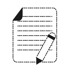 paper page and pencil icon vector image vector image