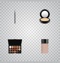realistic multicolored palette concealer blusher vector image vector image