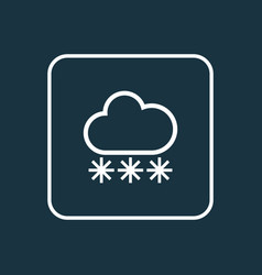 snowfall outline symbol premium quality isolated vector image