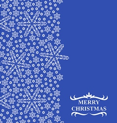 snowflakes vertical vector image vector image