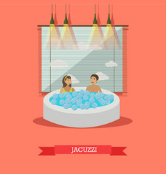 Spa aqua therapy jacuzzi concept vector