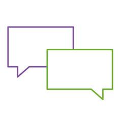 speech bubbles message talk chat icon vector image