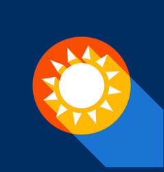 sun sign white icon on vector image