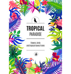 Tropical paradise frame background poster vector