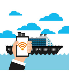 Wifi service in transport terminal vector